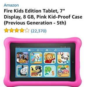 "Other - Fire Kids Edition Tablet, 7"", 8 GB, 5th generation"